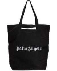 Palm Angels Logo Tote Bag - Black
