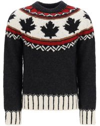 DSquared² Fair Isle Intarsia Sweater - Black
