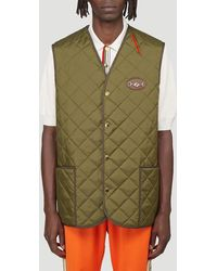 Gucci Quilted Gilet - Green