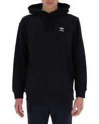 adidas Originals Loungewear Trefoil Essentials Hoodie - Black