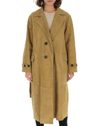Golden Goose Deluxe Brand E Elle Trench Coat - Natural