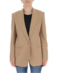 Stella McCartney Single Breasted Blazer - Natural
