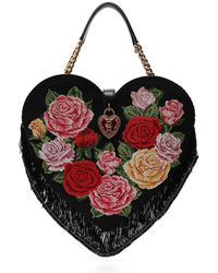 Dolce & Gabbana - Embroidered Floral Love Heart Bag - Lyst