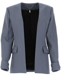Chloé Embroidered Wool Blazer Nd - Blue