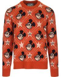 Gucci X Disney GG Mickey Mouse Sweater - Orange