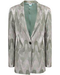 M Missoni Single-breasted Blazer - Grey