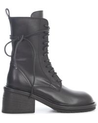 Ann Demeulemeester Lace Up Boots - Black