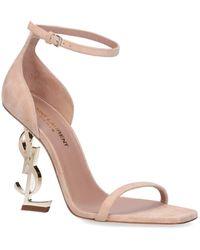 Saint Laurent Opyum Sandals - Natural