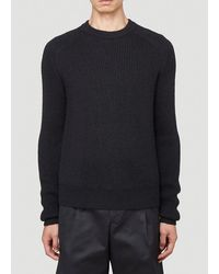 Bottega Veneta Rib Knit Jumper - Black