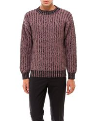 Ferragamo Crewneck Knitted Pullover - Red