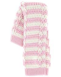 Miu Miu Striped Chunky Knit Socks - Pink