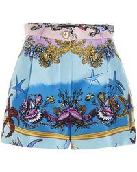 Versace Shell Print Bermuda Shorts - Blue