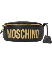 Moschino Logo Fanny Pack - Black