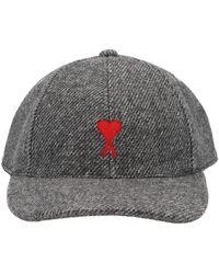 AMI Logo Embroidered Baseball Cap - Grey