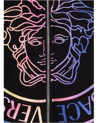 Versace Medusa Print Drawstring Hoodie - Black