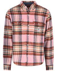 BBCICECREAM Plaid Button-up Shirt - Pink