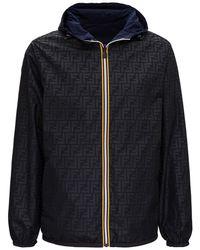 Fendi X K-way Reversible Windbreaker Jacket - Black