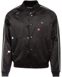 Saint Laurent Galaxy Silk Teddy Jacket - Black
