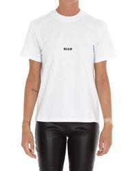 MSGM Micro Logo T-shirt - White