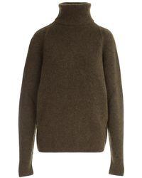 Uma Wang Turtleneck Knit Sweater - Green
