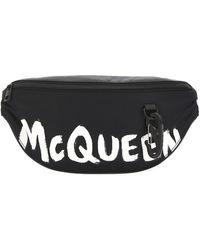 Alexander McQueen Graffiti Logo Belt Bag - Black