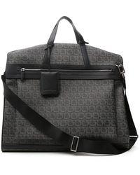 Ferragamo Top Handle Laptop Bag - Gray