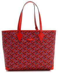 """Versace Shopping Bag With """"la Greca"""" Print - Red"""