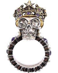 Alexander McQueen - Crowned Skull Ring - Lyst