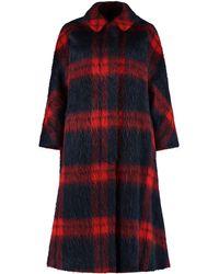 RED Valentino Redvalentino Checked Single-breasted Coat - Multicolor
