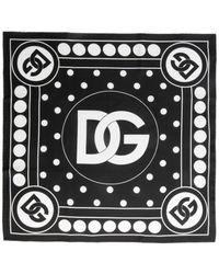 Dolce & Gabbana Silk Scarf - Black