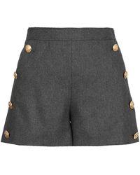 Boutique Moschino Button-detail Shorts - Grey