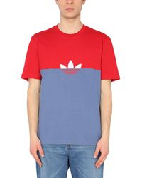 adidas Originals - Crew Neck Multicolour Cotton T-shirt With Logo - Lyst