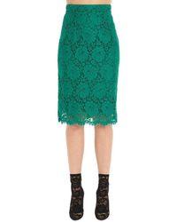 Dolce & Gabbana Lace Pencil Skirt - Green