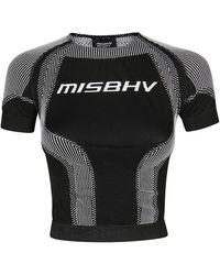 MISBHV Logo Knit Sport Active Top - Black