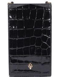 Alexander McQueen Skull Phone Case - Black