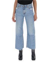 Simon Miller Wide Leg Denim Jeans - Blue