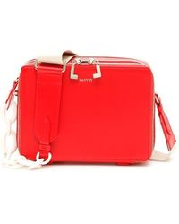 Lanvin Toffee Small Crossbody Bag - Red