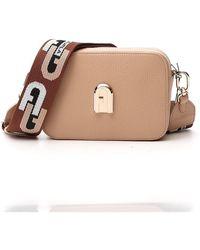 Furla Sleek Mini Crossbody Bag - Natural