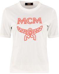 MCM Logo Printed T-shirt - White