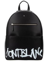 Montblanc Logo Printed Backpack - Black