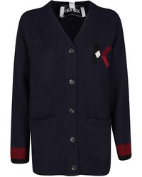 KENZO Wool Cardigan - Blue
