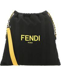 Fendi Pack Medium Drawstring Shoulder Bag - Black