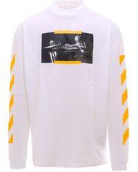 Off-White c/o Virgil Abloh Logo Printed Sweatshirt - White