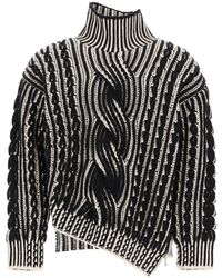 Alexander McQueen Cable Knit Sweater - Black