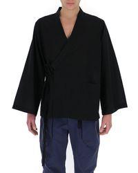 Uma Wang Wrapped Shirt Jacket - Black