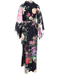 P.A.R.O.S.H. Floral Printed Belt Waisted Dress - Multicolour