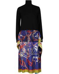 Maison Margiela Panelled Sweater Dress - Multicolour