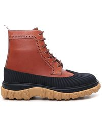 Thom Browne Covered Outsole Lace-up Boots - Brown