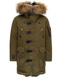 DSquared² Hooded Parka - Green