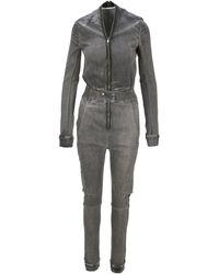 Rick Owens Drkshdw Performa Bodybag Denim Jumpsuit - Grey